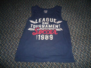 Boys Size 7 ****Children's Place**** Navy Soccer Tank Top