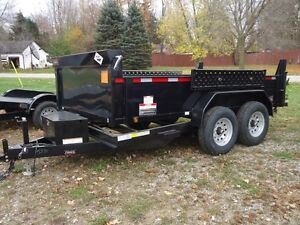 2016 FORCE HDL8612TA4 -12000 LBS Tandem Hydraulic Dump Trailer London Ontario image 10