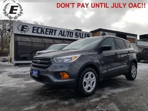 2017 Ford Escape S WITH LOW LOW KMS!!  DON'T PAY UNTIL JULY OAC!