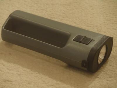 Taschenlampe Griff grün 2 x 1,5 Volt 145 x 35 x 70 mm ca. 70 g ohne Batterien
