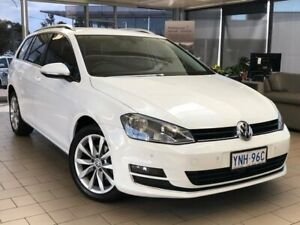 2014 Volkswagen Golf VII MY15 103TSI DSG Highline White 7 Speed Sports Automatic Dual Clutch Wagon Belconnen Belconnen Area Preview