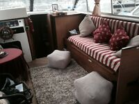 FURNISHED LARGE 2 BED BOAT - IDEAL 3BED PROPERTY