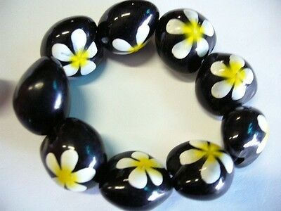 Hawaii Wedding / Graduation Kukui Nut Luau Hula Jewelry Bracelet ~#24129 (QTY 2)
