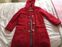 Minin Boden Red Duffle Coat Size 9-10