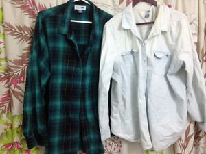 OLD NAVY SHIRTS - PLAID FLANNEL AND DENIM-SIZE XXL