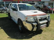 2007 Toyota Hilux KUN26R MY07 SR White 5 Speed Manual Cab Chassis Kippa-ring Redcliffe Area Preview