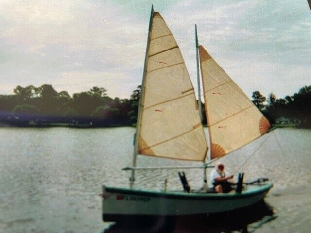 18 foot Wooden Sailboat  Florida bay Sharpie with trailer