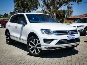 2018 Volkswagen Touareg 7P MY18 Monochrome Tiptronic 4MOTION White 8 Speed Sports Automatic Wagon Morley Bayswater Area Preview