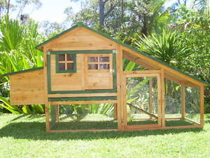 Chicken coop Somerzby CHALET Rabbit Hutch Run Cage Guinea pig Somersby Gosford Area Preview