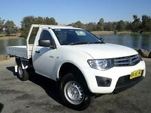 2011 Mitsubishi Triton MN MY11 GLX White 4 Speed Automatic Cab Chassis Belconnen Belconnen Area Preview