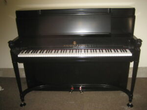 STEINWAY MODEL P PIANO. LOVELY RESTORED & AS NEW!