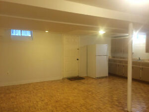 Two bedrooms basement apartment with 2 parking spot