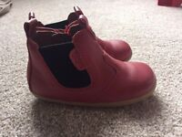 Bobux red chelsea boots size EU 22