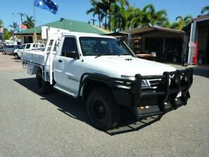 2006 Nissan Patrol GU II DX White Manual Cab Chassis Townsville Townsville City Preview