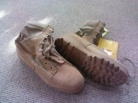 Desert Tan Tactical Safety Boots -  New and Used