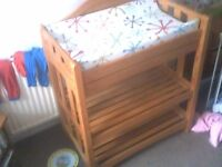 changing table solid pine £50.00