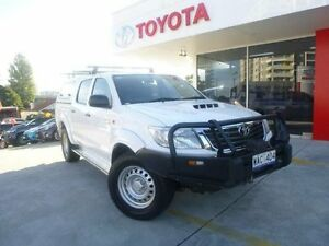 2012 Toyota Hilux KUN26R MY12 SR (4x4) Glacier White 4 Speed Automatic Dual Cab Pick-up Allawah Kogarah Area Preview