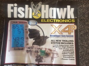 Fish Hawk X4D Downrigger speed and temperature