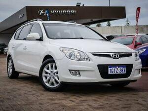 2010 Hyundai i30 FD MY11 SLX cw Wagon White 4 Speed Automatic Wagon