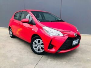 2017 Toyota Yaris NCP130R Ascent Pink 4 Speed Automatic Hatchback Berwick Casey Area Preview