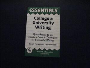 Essentials College & University Writing
