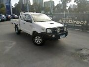 2009 Toyota Hilux KUN26R MY09 SR Xtra Cab White 5 Speed Manual Cab Chassis Docklands Melbourne City Preview