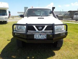 1999 Nissan Patrol White Manual Wagon