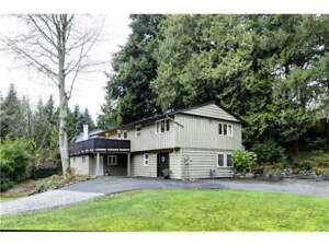 West Vancouver Bright Unfurnished Home with huge lot area for re