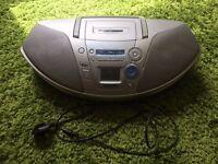 Panasonic portable radio, CD and cassette player