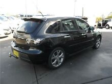 2008 Mazda 3 BK1032 MY08 SP23 Black 6 Speed Manual Hatchback Telarah Maitland Area Preview