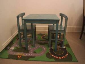 Children's wooden table and two chairs Brighton Bayside Area Preview