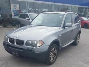 2005 BMW X3 AWD, Panoramic Sunroof, Back Up Camera, Only 151 km!