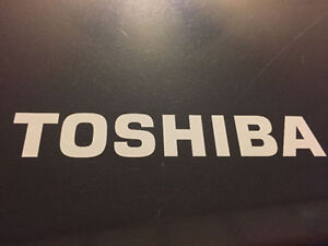 Toshiba Laptop with 150 gb hard drive , 4 gb ram