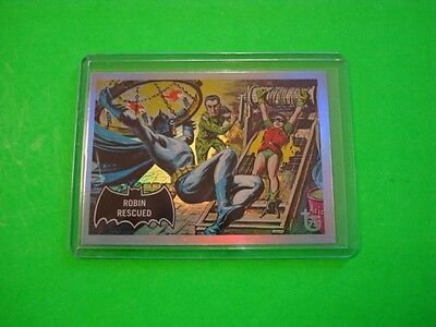 "2013 TOPPS 75TH ANNIVERSARY 1966 ""BATMAN"" PARALLEL RAINBOW FOIL CARD #41"