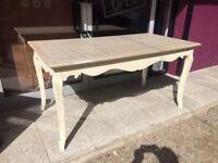Ornate limed kitchen table