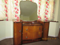 Vintage 1950s dressing table and wardrobe