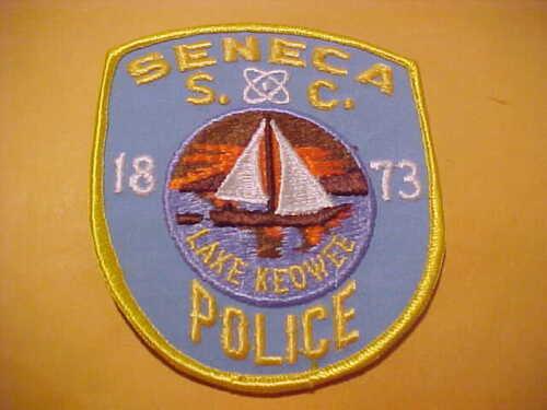 SENECA SOUTH CAROLINA POLICE PATCH SHOULDER SIZE UNUSED