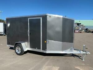 NEW 2019 ONE 6' x 10' + 4' ALUMINUM ENCLOSED TRAILER