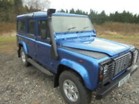 Land Rover Defender 110 110 2.5Td5 double cab County, 9 SEATS (blue) 2002