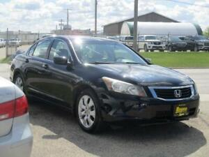 2008 HONDA ACCORD EX-L, NAV,HEATED LEATHER,SAFETY&WARRANTY$8,450