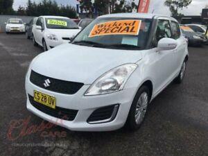2014 Suzuki Swift FZ MY14 GL White 5 Speed Manual Hatchback Cabramatta Fairfield Area Preview