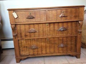 ANTIQUE DRESSER WITH MUSTACHE HANDLES!!!