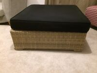 Large Rattan Seating/Coffee Table/Foot-rest - Excellent condition