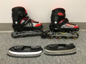Rollerblade, patin à roue aligné et à glace interchangeable