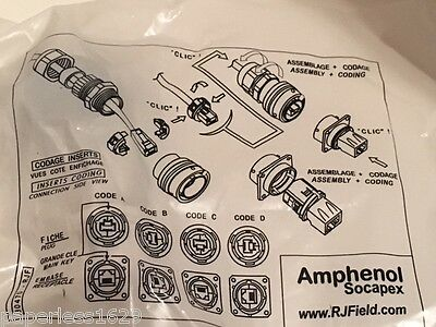 Amphenol Rjf21g  Modular Connector  Cat5e  Rj45 W Cover And Gasket   Free Ship