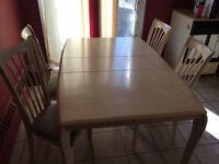 table de cuisine en chêne