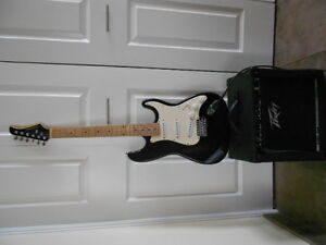 Electiric Guitar and Peavy Amp