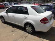 2008 Nissan Tiida C11MY08 ST White 4 Speed 4 SP AUTOMATIC Sedan Islington Newcastle Area Preview