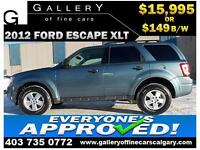 2012 Ford Escape XLT AWD $149 bi-weekly APPLY NOW DRIVE NOW