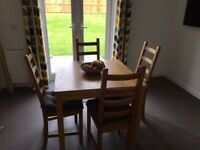 IKEA extendable Dining table & 4 chairs .